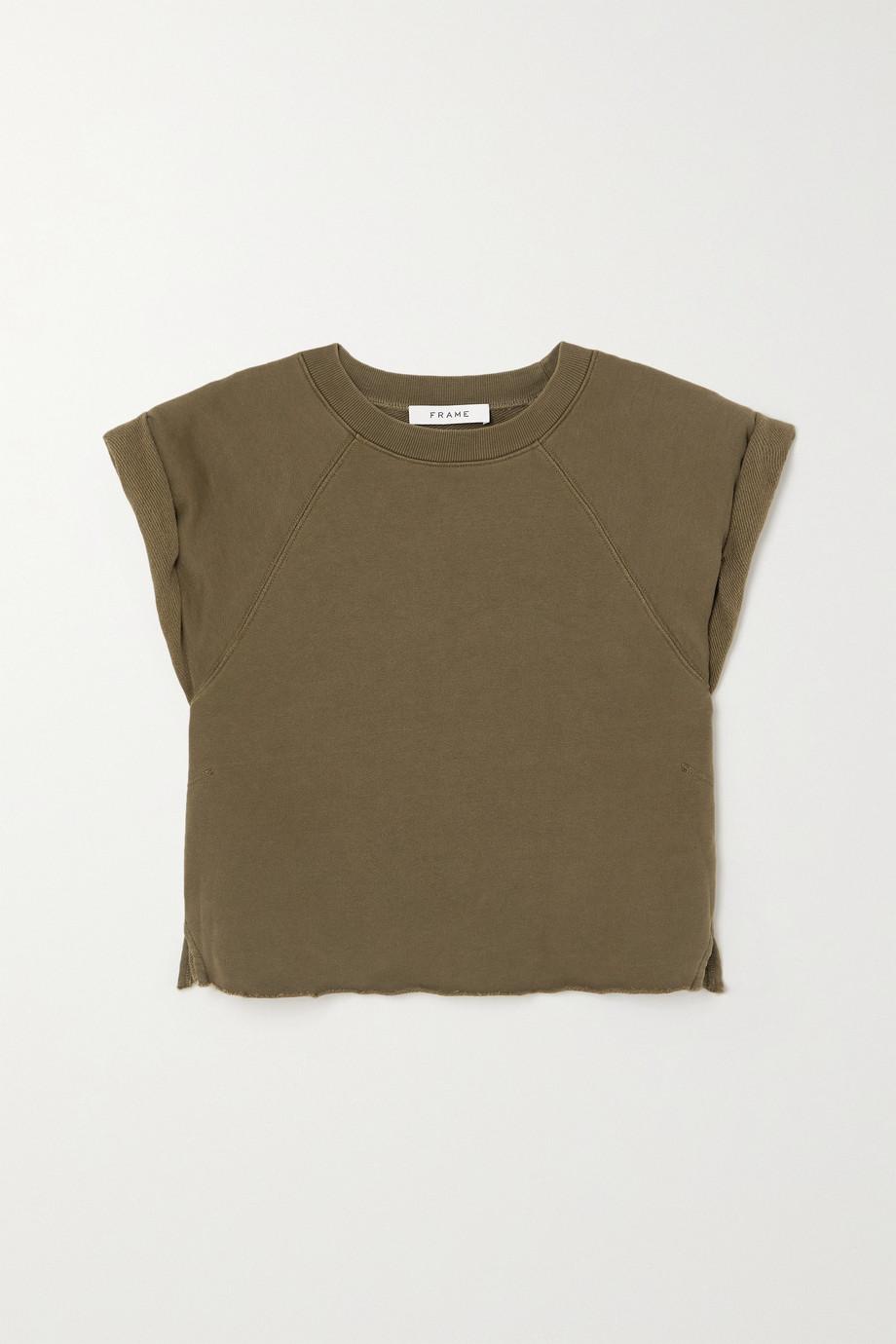 FRAME Organic cotton-terry top