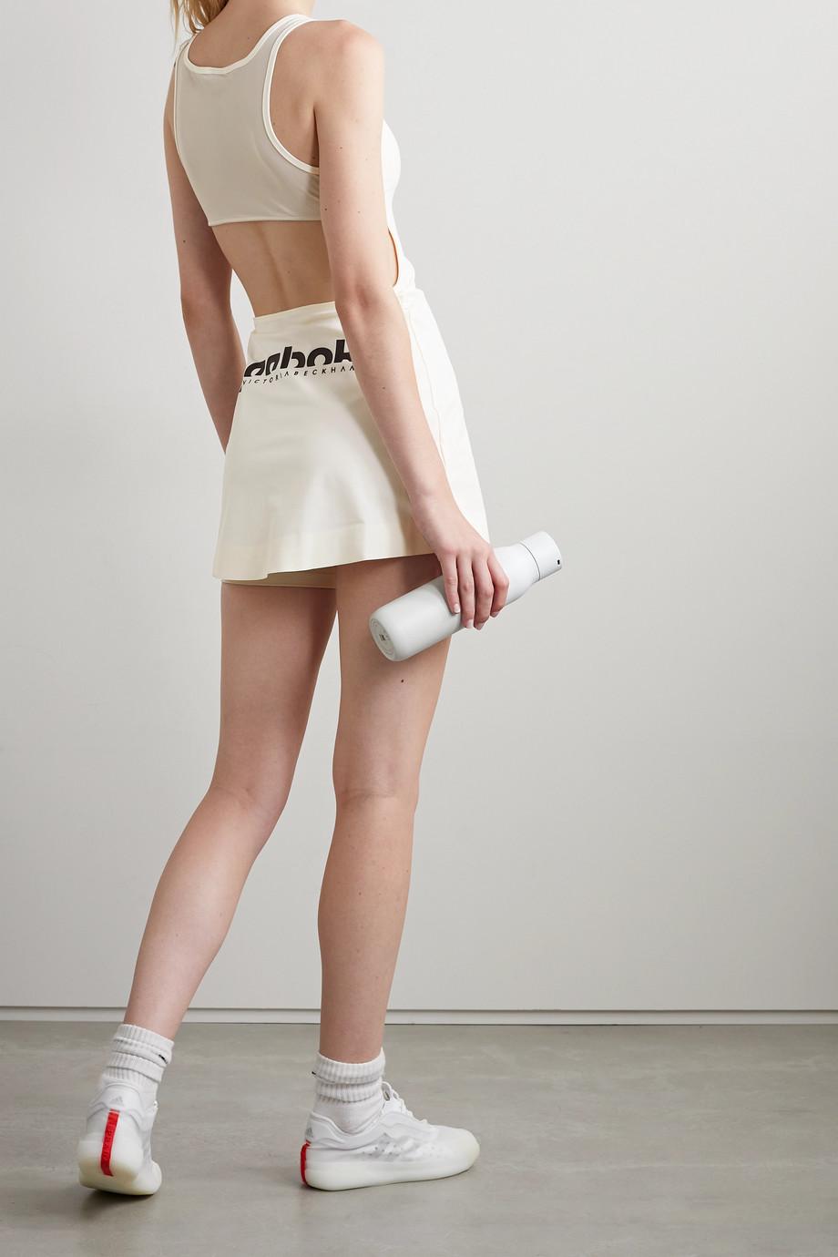 Reebok X Victoria Beckham Cutout printed stretch tennis dress