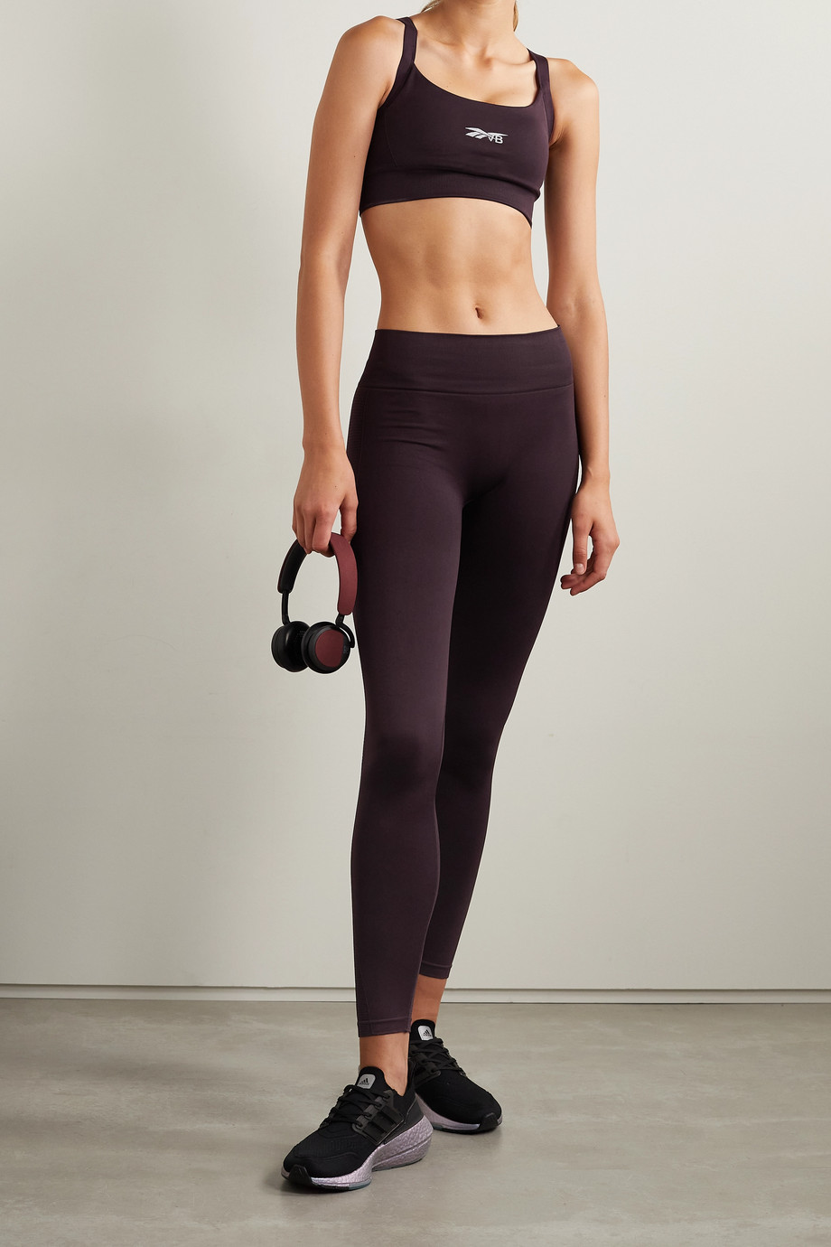 Reebok X Victoria Beckham Seamless stretch-jacquard leggings