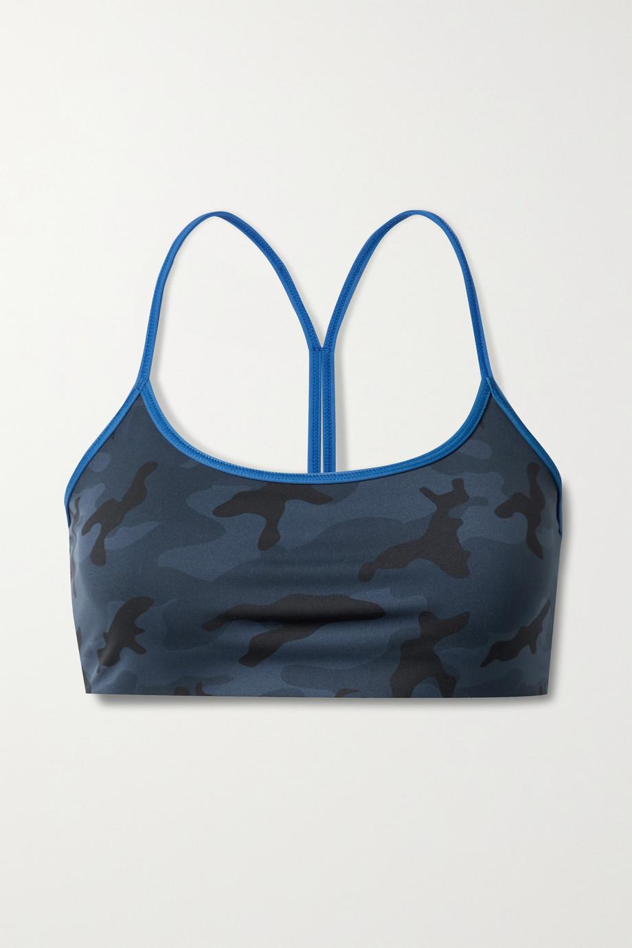 All Access Chorus camouflage-print stretch sports bra
