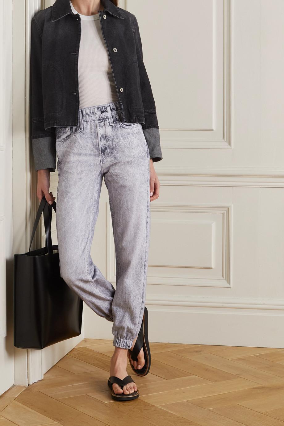 rag & bone Miramar printed cotton-jersey track pants