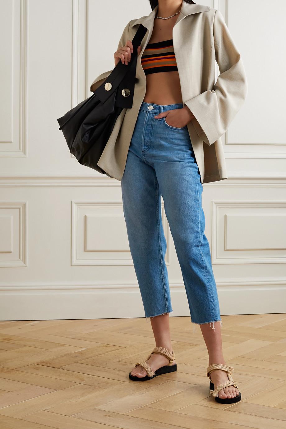 rag & bone 90s frayed high-rise straight-leg jeans