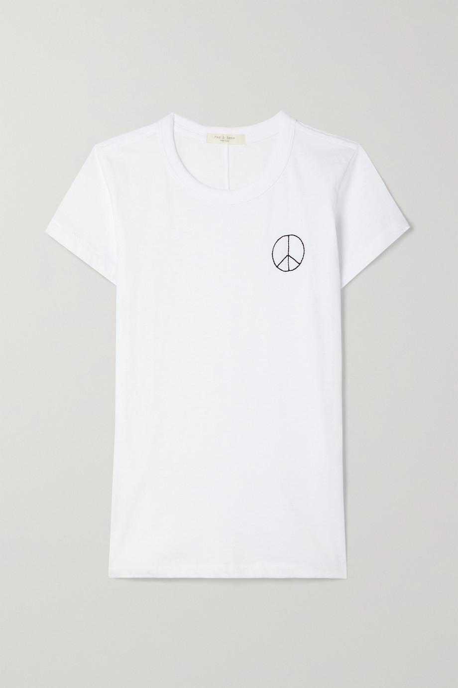 rag & bone T-shirt en jersey de coton Pima biologique à broderies