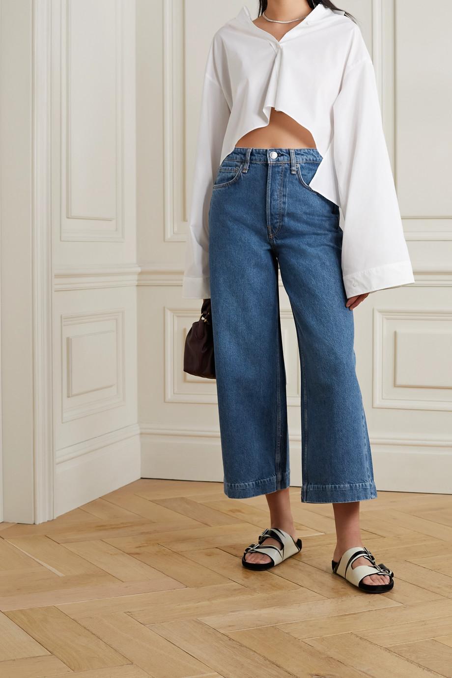 rag & bone Maya cropped high-rise wide-leg jeans