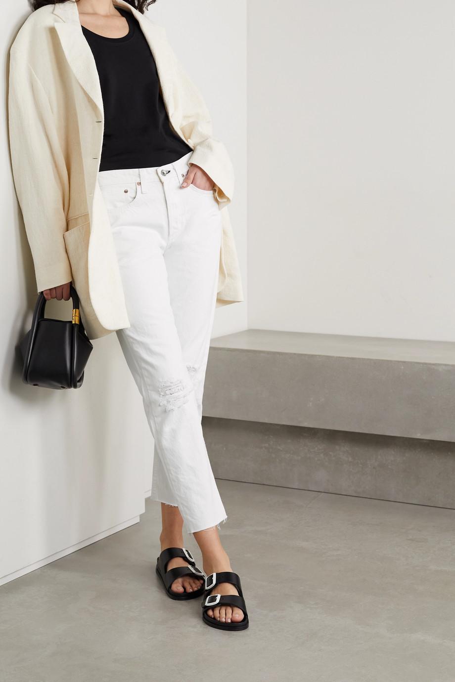 rag & bone Rosa halbhohe Jeans mit geradem Bein aus Bio-Denim in Distressed-Optik