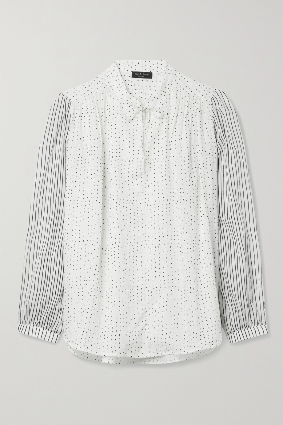 rag & bone Carly printed cotton-blend voile blouse