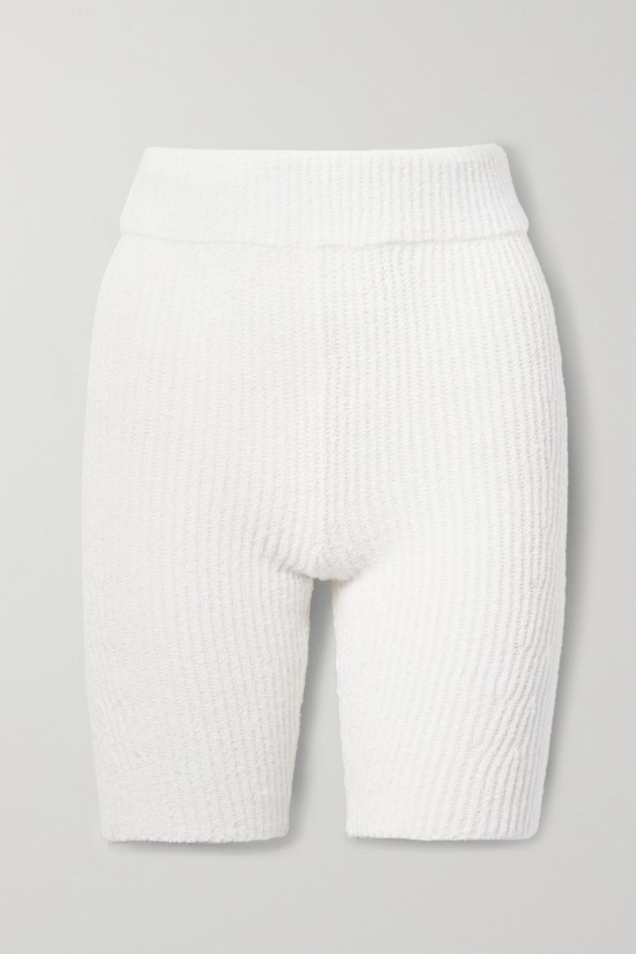 rag & bone + NET SUSTAIN Sunny ribbed organic cotton-blend shorts