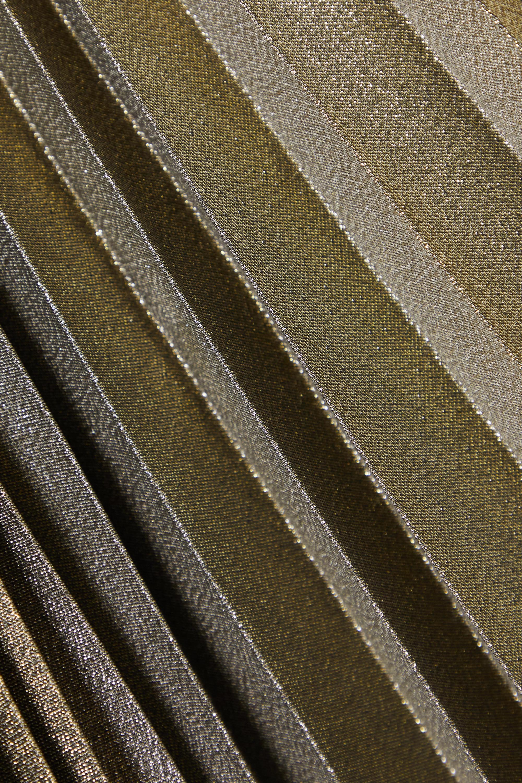 ARTCLUB Jupe midi en toile de coton biologique et en lamé plissé - NET SUSTAIN