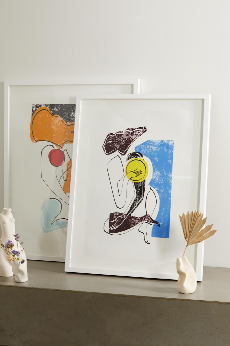 Roksanda Cerulean Swimmer gerahmter Kunstdruck, DIN A1