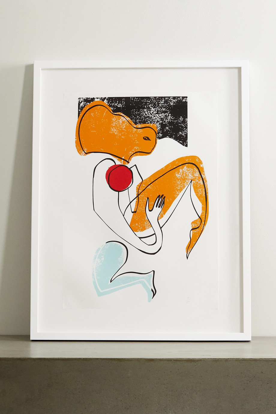 """Roksanda Amber Swimmer framed print, 23"""" x 33"""""""