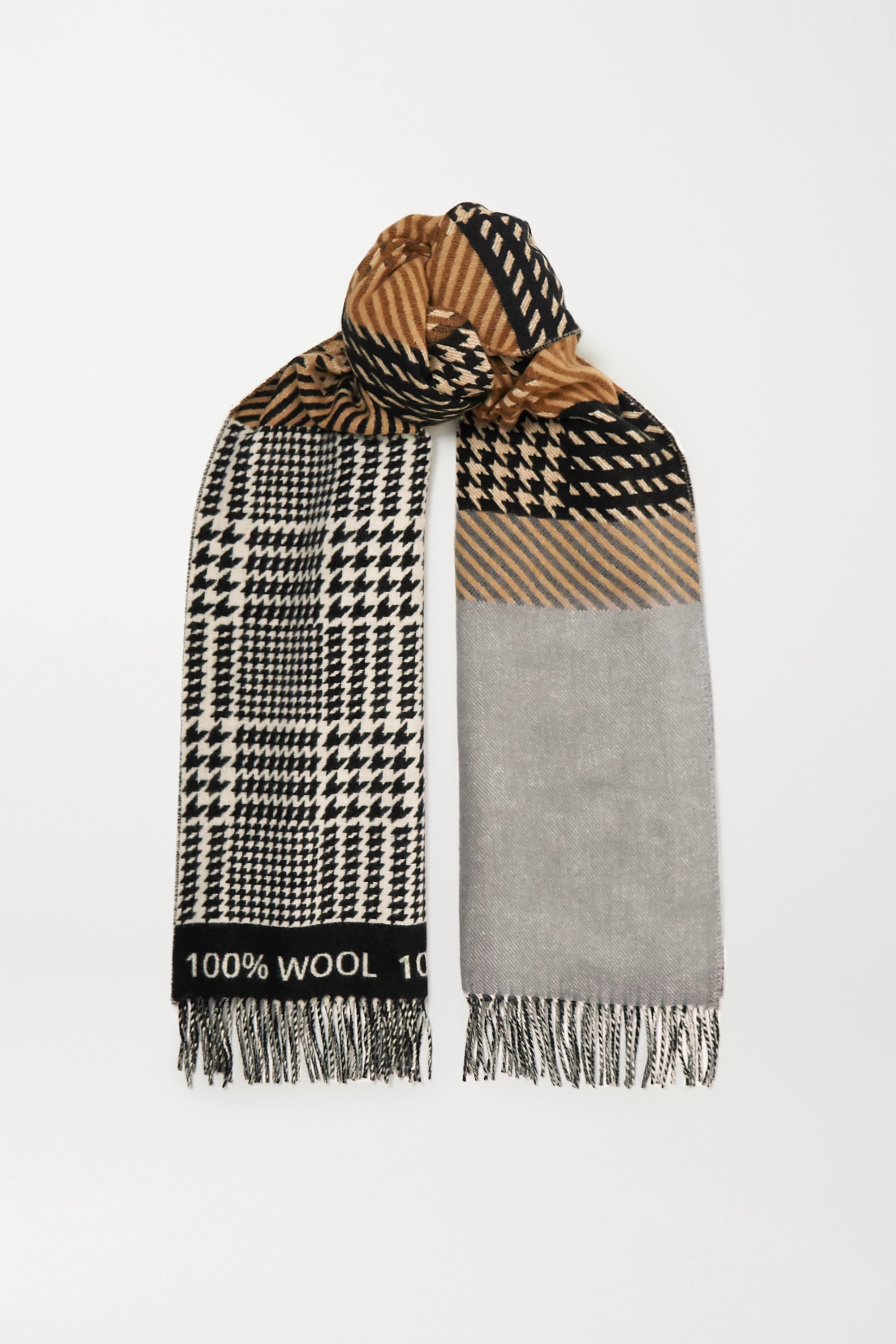 Johnstons of Elgin + Mother of Pearl Murray wool-jacquard scarf