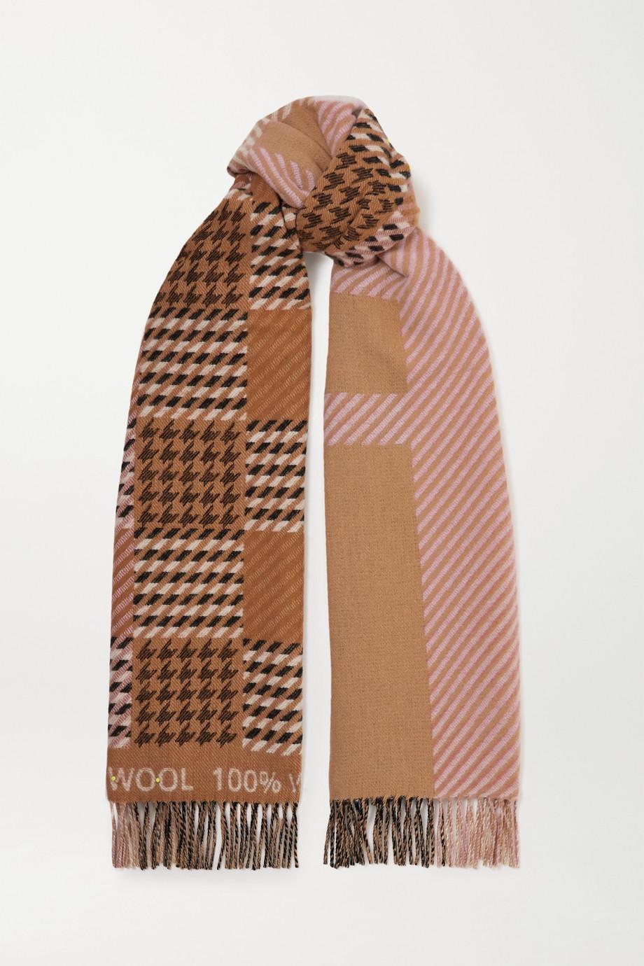Johnstons of Elgin + Mother of Pearl Elgin wool-jacquard scarf