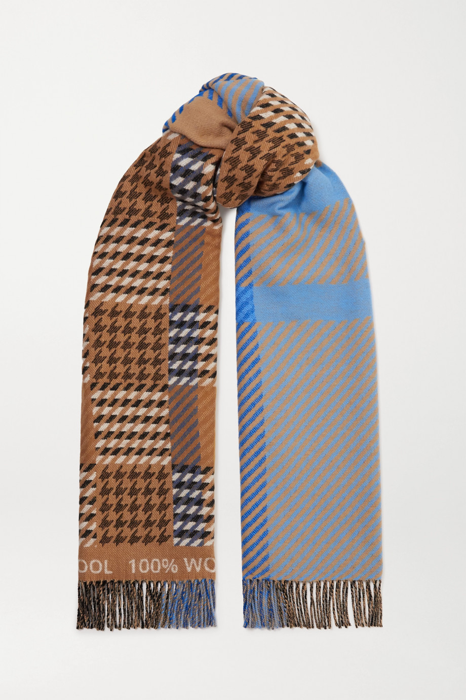 Johnstons of Elgin + Mother of Pearl Derwent wool-jacquard scarf