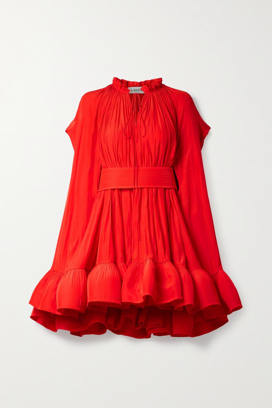 Lanvin Mini-robe effet cape en crêpe à ceinture