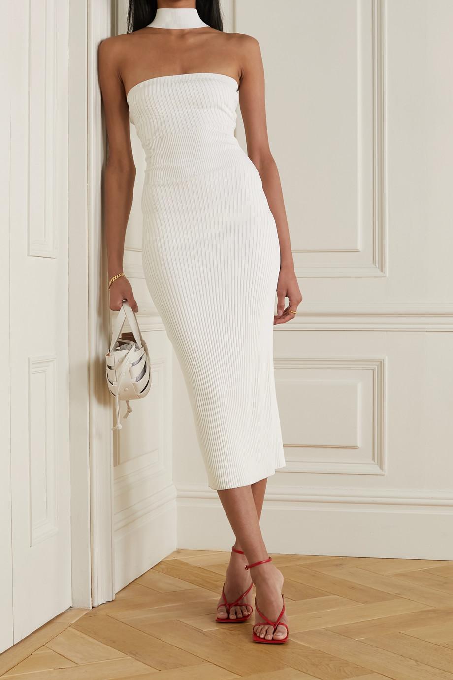 Jonathan Simkhai Selena cutout ribbed-knit midi dress