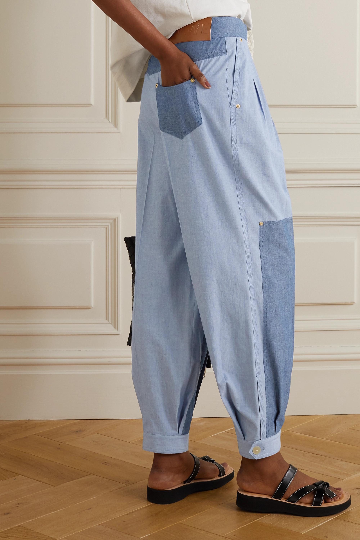 Loewe Zweifarbige Hose aus Baumwoll-Chambray