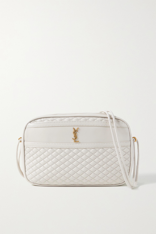 SAINT LAURENT - Victoire quilted leather shoulder bag