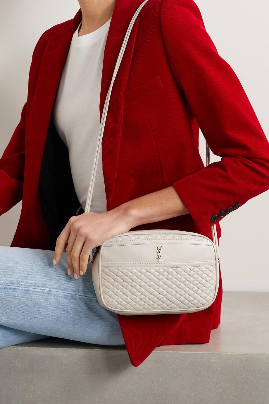 SAINT LAURENT Victoire quilted leather shoulder bag