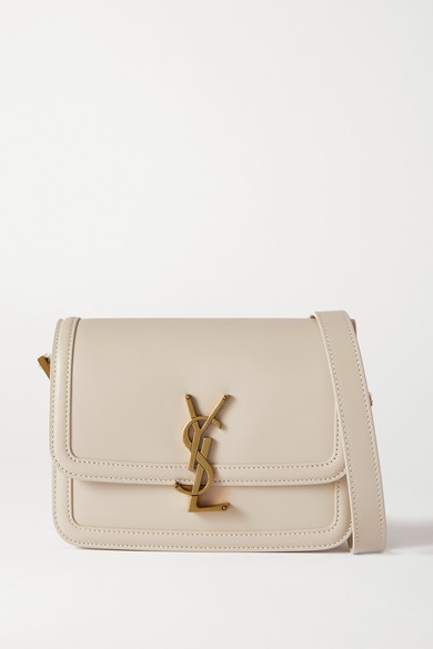 Saint Laurent Solferino Small Leather Shoulder Bag In White