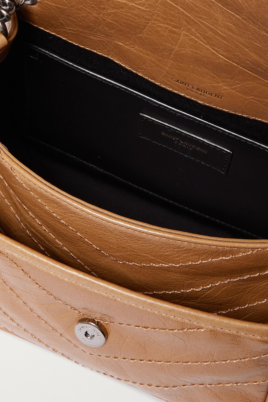 SAINT LAURENT Niki Baby mini quilted crinkled-leather shoulder bag