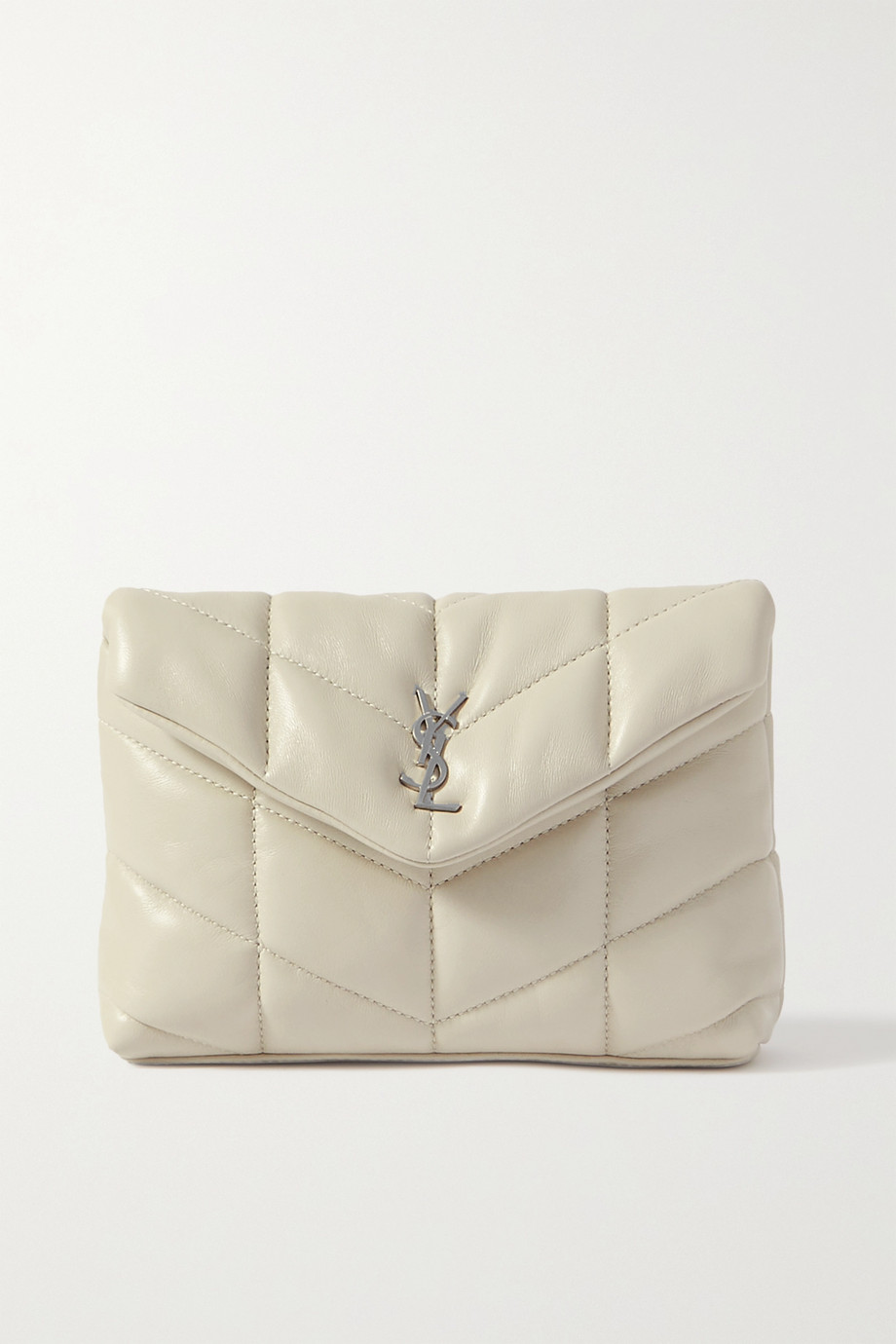 SAINT LAURENT Loulou Puffer small quilted leather clutch