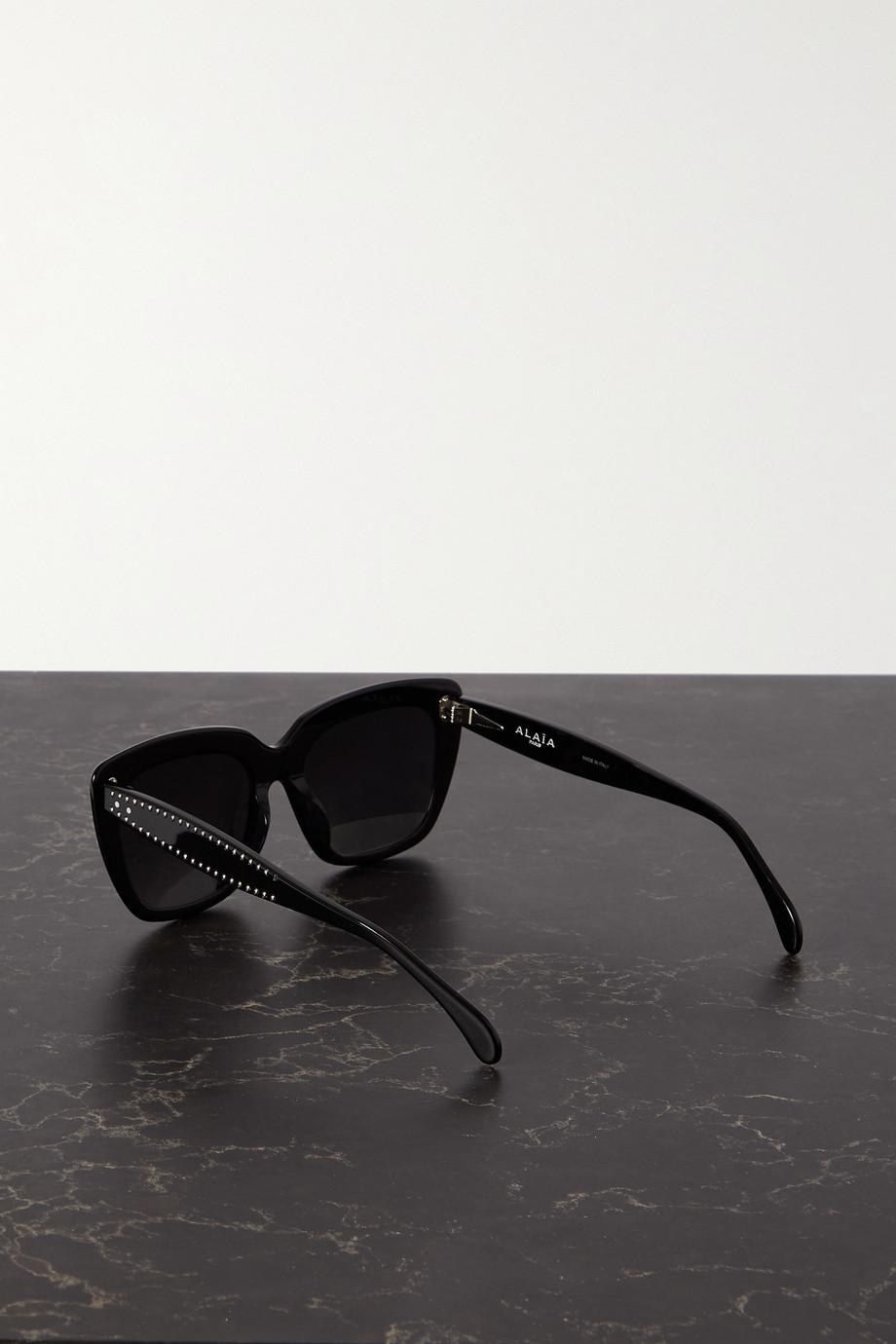 Alaïa Sonnenbrille mit eckigem Rahmen aus Azetat mit Nieten
