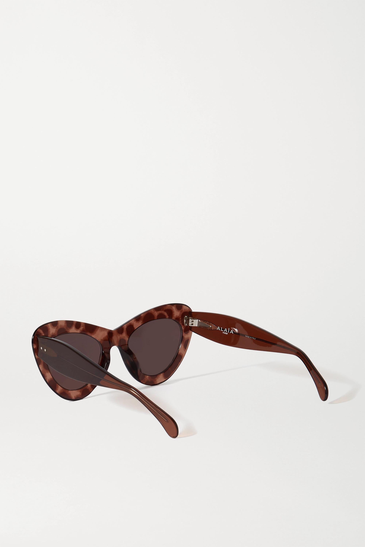 Alaïa Oversized-Sonnenbrille mit Cat-Eye-Rahmen aus Azetat
