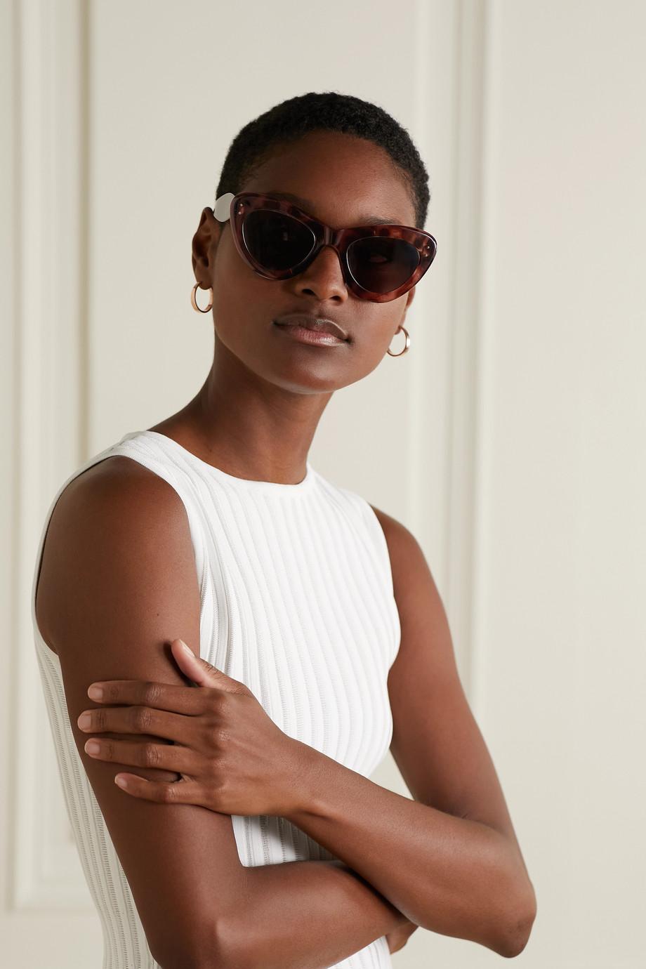 Alaïa Oversized cat-eye acetate sunglasses