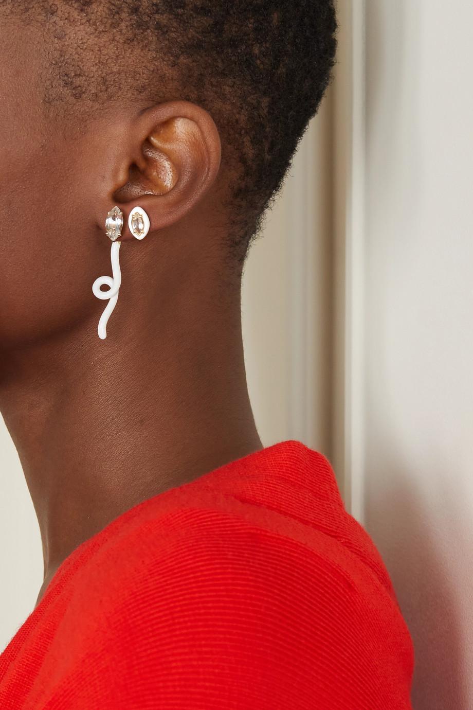 Bea Bongiasca Sweetness gold, enamel and rock crystal earring