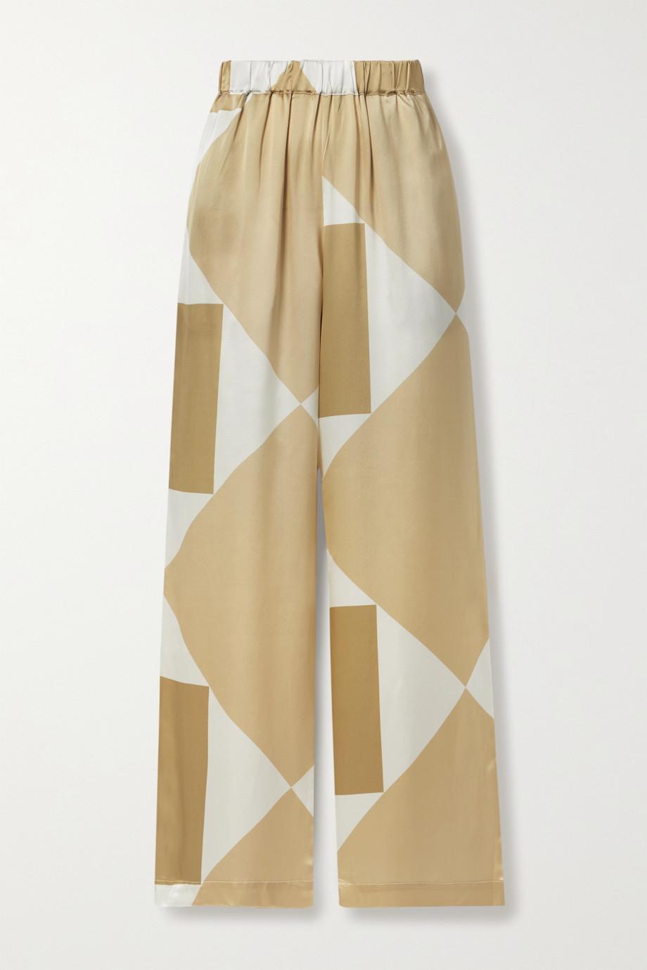 Envelope1976 Vehi printed silk-satin wide-leg pants