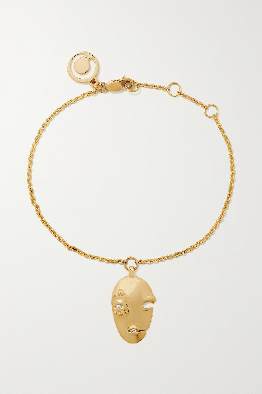 KHIRY Fine Mask 18-karat gold diamond bracelet