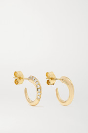 KHIRY Fine Tiny Khartoum 18-karat gold diamond hoop earrings