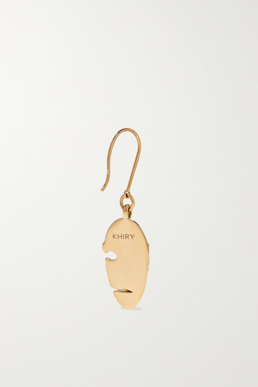 KHIRY Fine Mask 18-karat gold diamond earrings