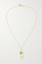 KHIRY Fine Horus 18-karat gold multi-stone necklace