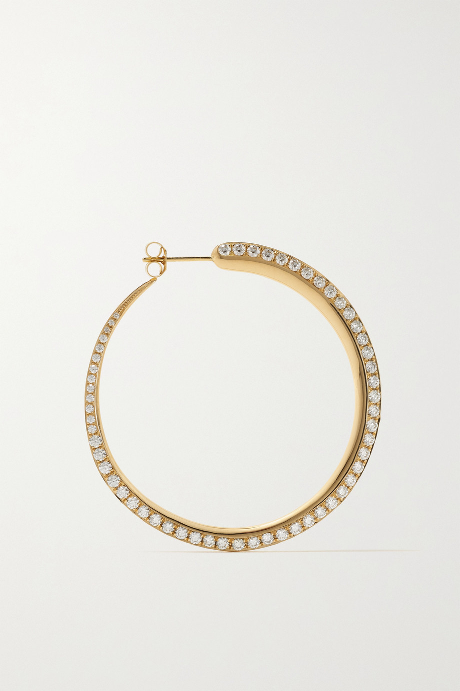 KHIRY Fine Tiniest Khartoum 18-karat gold diamond hoop earrings
