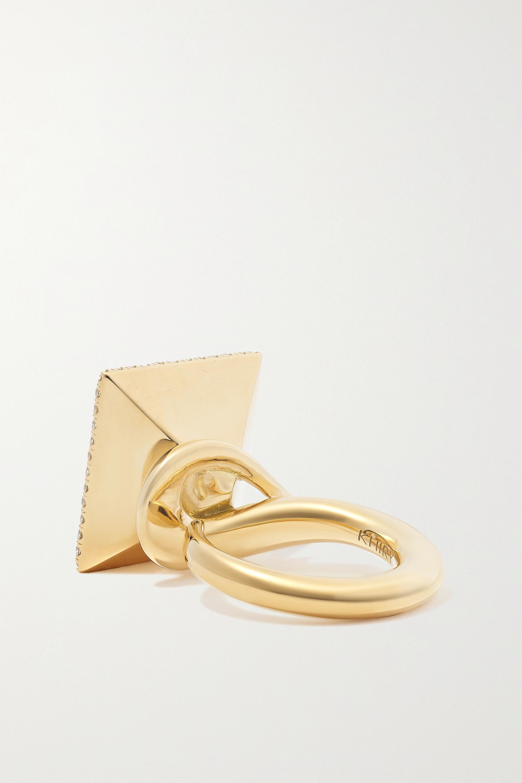 KHIRY Fine Pavilion Ring aus 18 Karat Gold mit mehreren Steinen