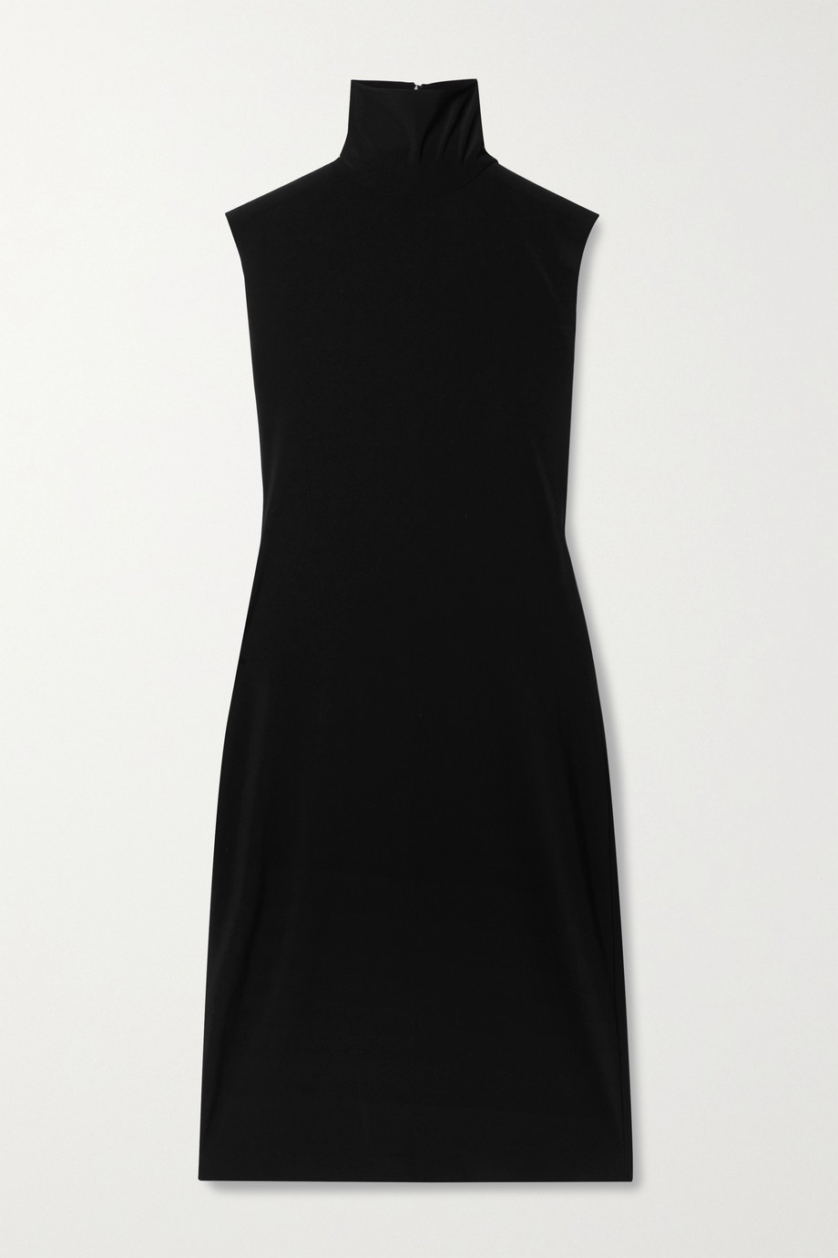 Norma Kamali Stretch-jersey turtleneck dress