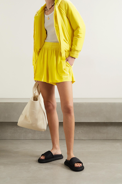 Norma Kamali Velvet shorts