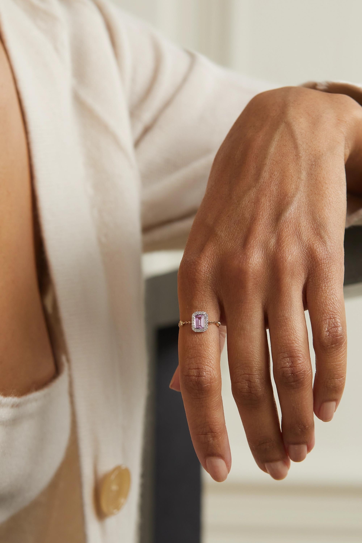 Anissa Kermiche Gold, sapphire and diamond ring
