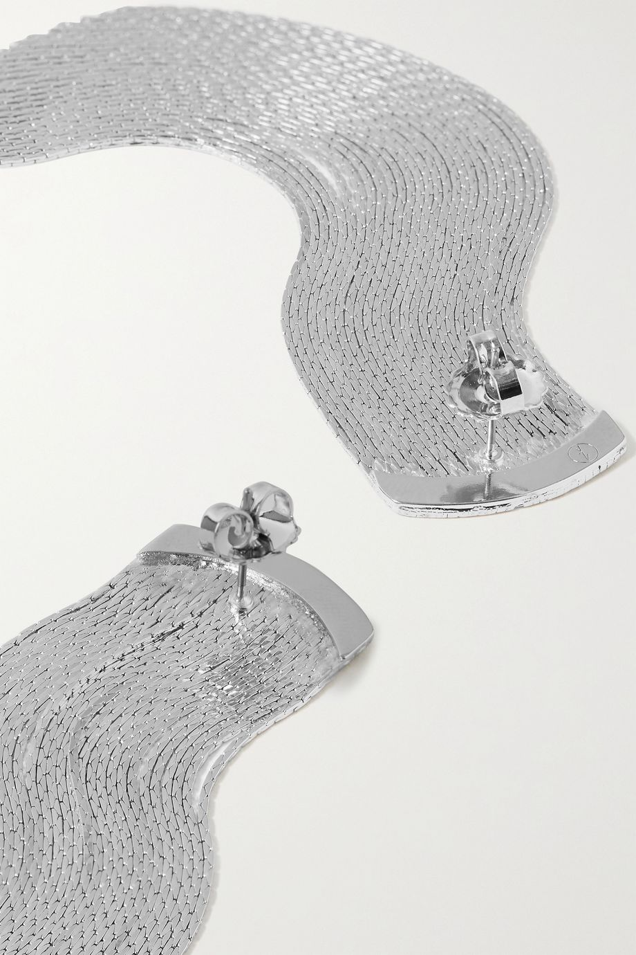 Anissa Kermiche Grand Fil d'Argent silver-plated earrings