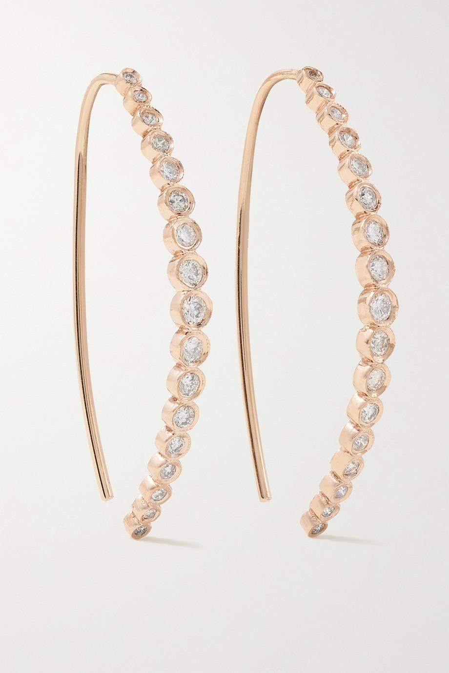Jacquie Aiche Ohrringe aus 14Karat Roségold mit Diamanten