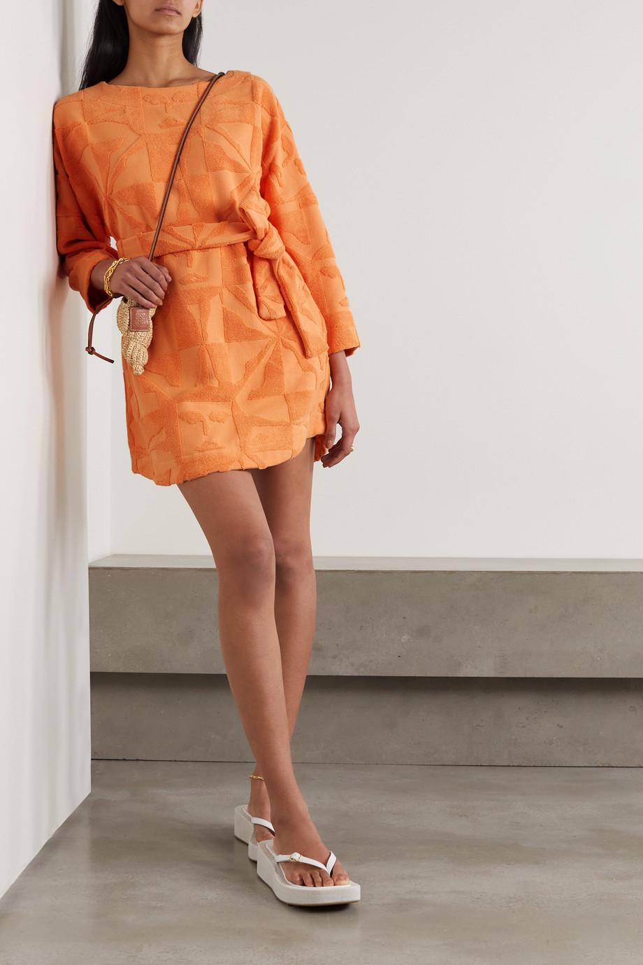 Lucy Folk Sol Minikleid aus Baumwollfrottee mit Bindegürtel