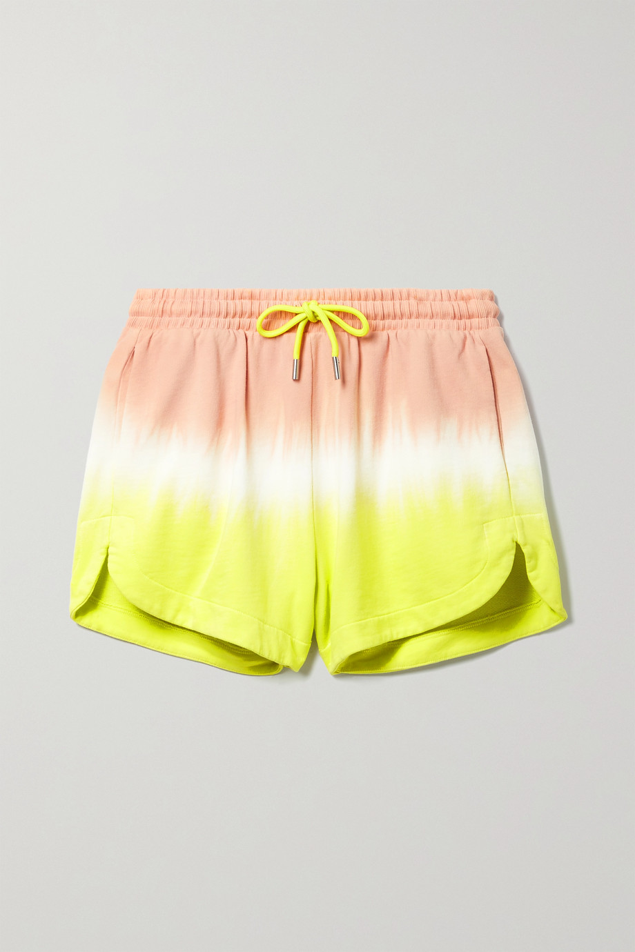 ATM Anthony Thomas Melillo Tie-dyed French cotton-terry shorts