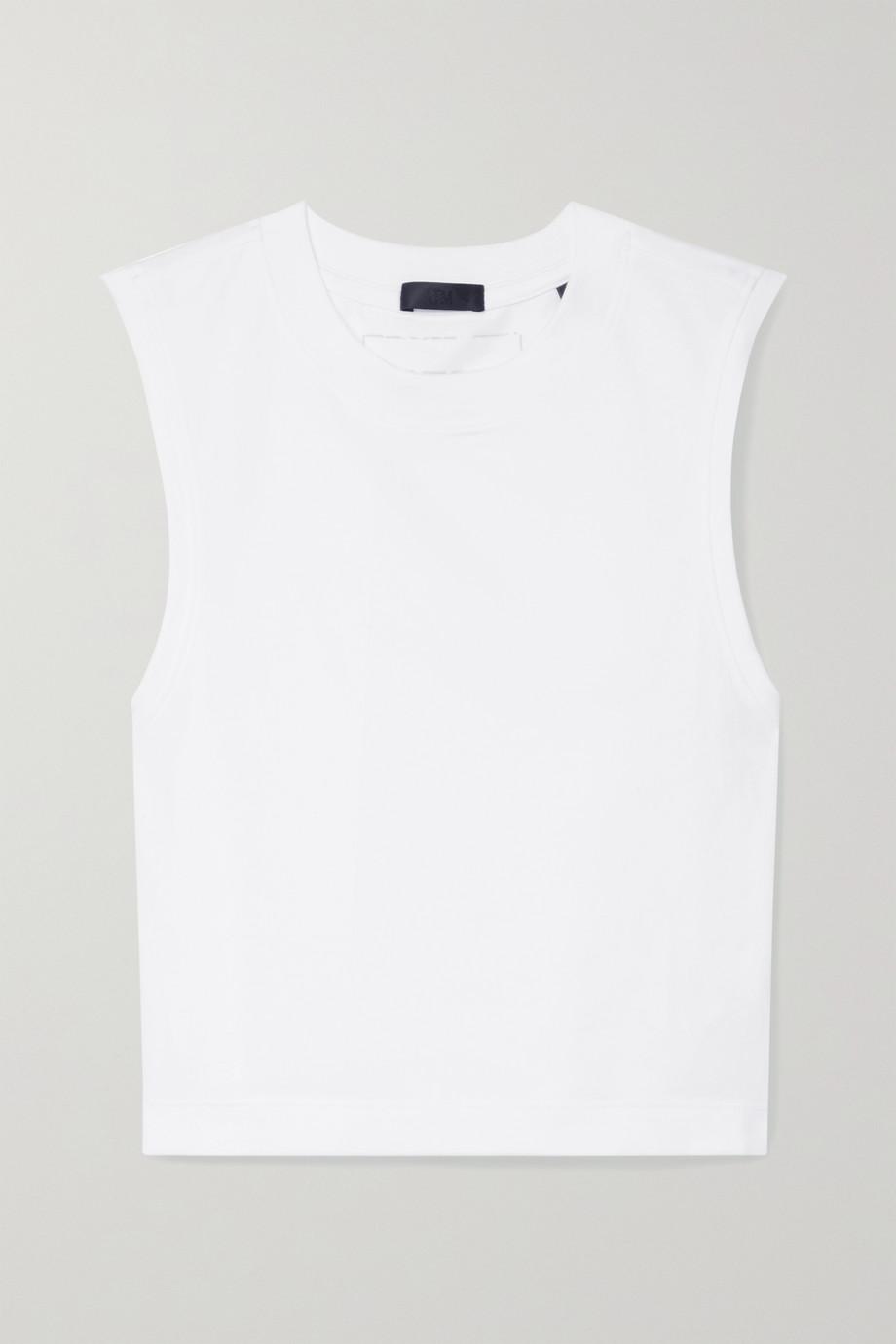 ATM Anthony Thomas Melillo Cropped stretch-Pima cotton jersey tank