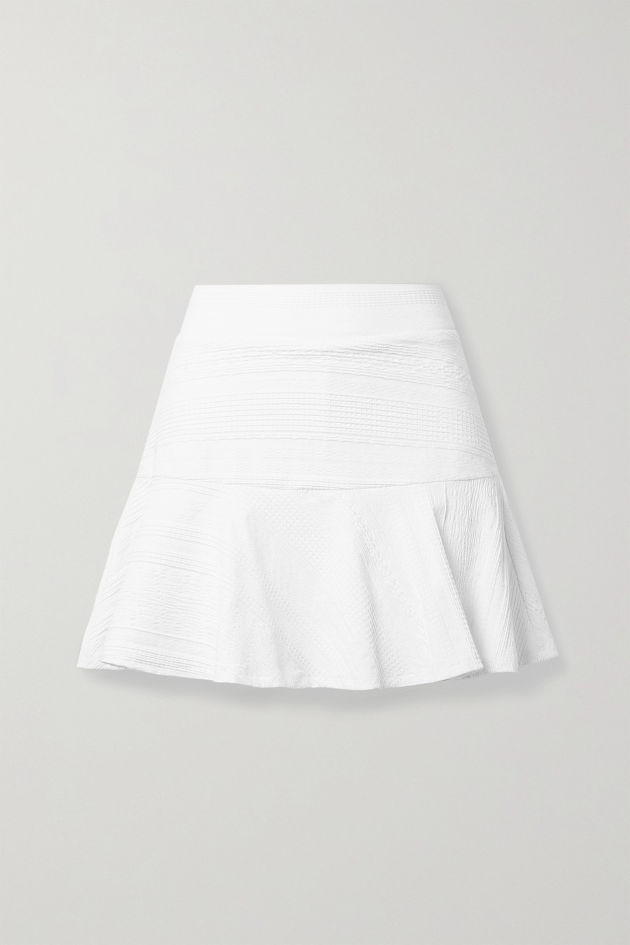 L'Etoile Sport Pleated textured stretch-jersey tennis skirt
