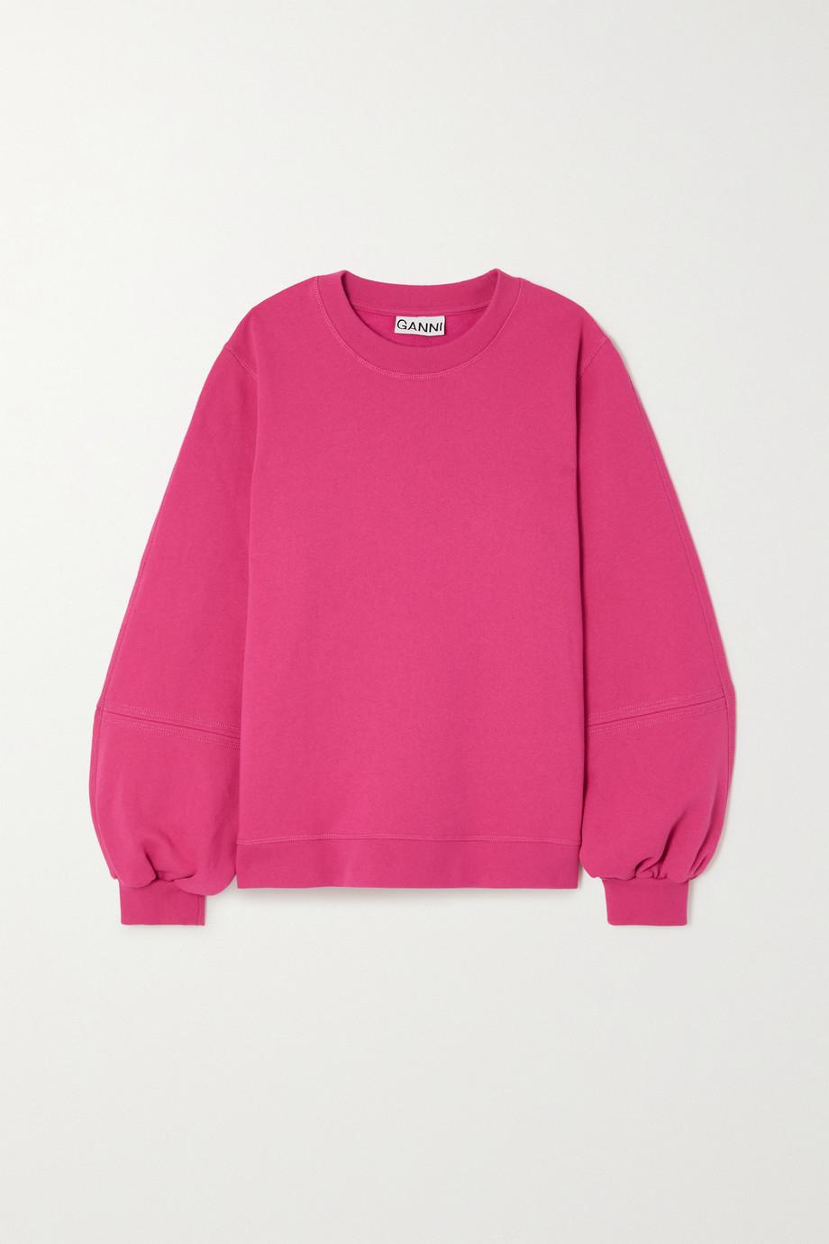 GANNI Software Sweatshirt aus Jersey aus einer recycelten Baumwollmischung mit Stickerei