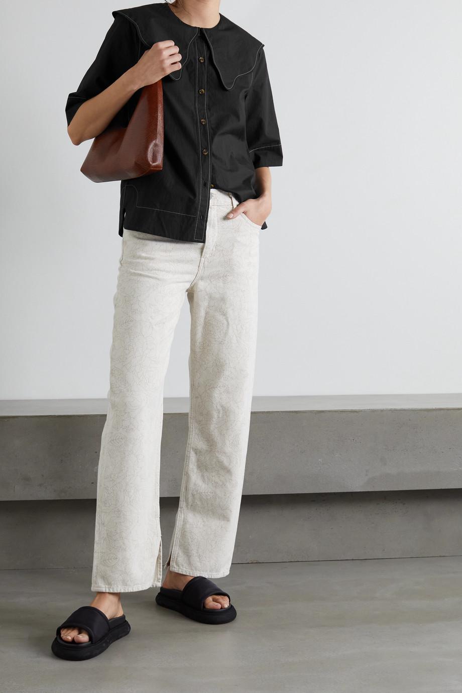 GANNI Organic cotton-poplin shirt