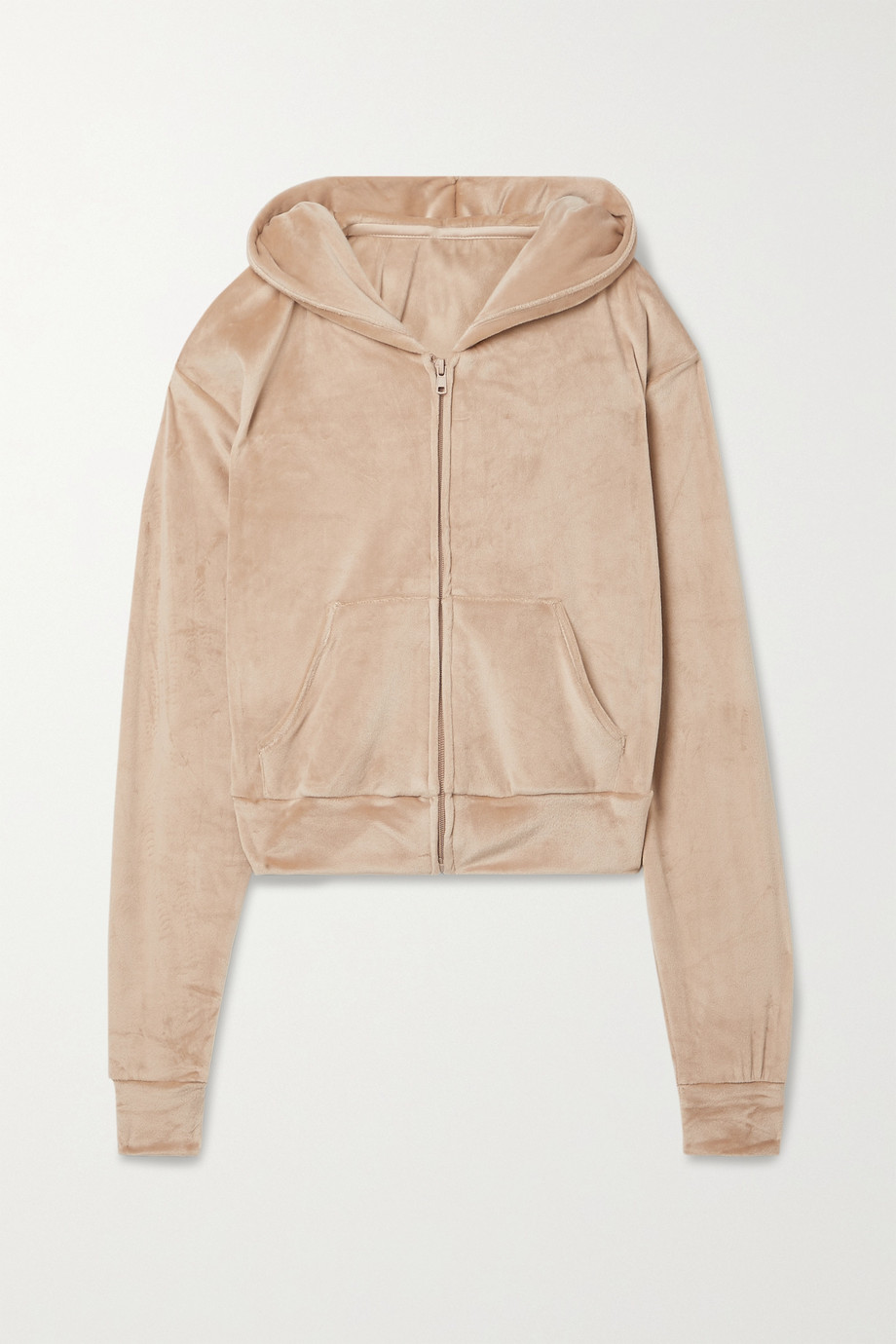 SKIMS Velour Hoodie – Honey – Kapuzenjacke aus Velours