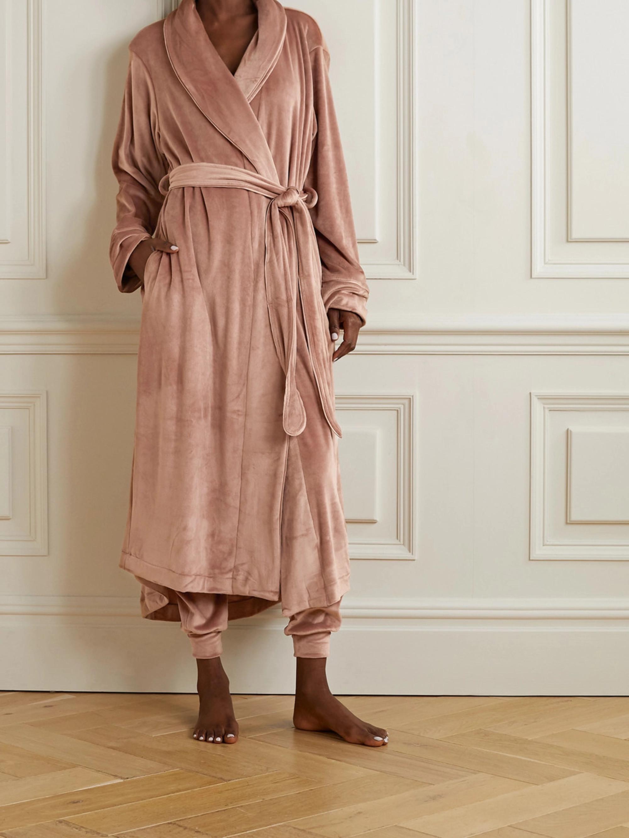 SKIMS Velour robe - Sienna