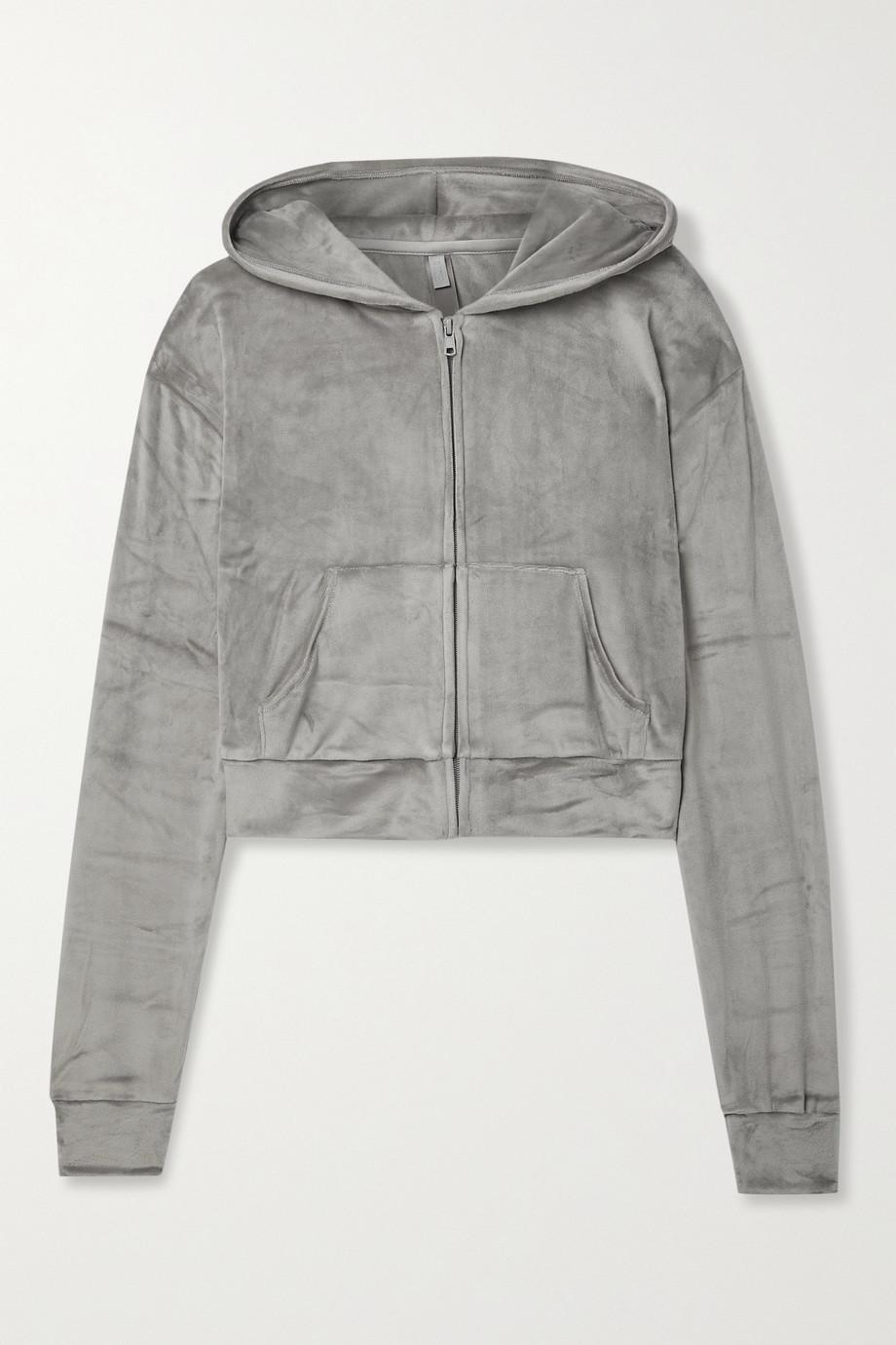 SKIMS Velour hoodie - Smoke